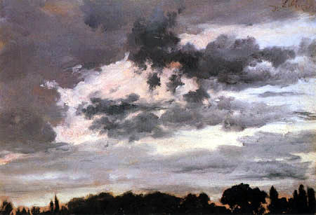 Adolph von (Adolf) Menzel - Study of clouds