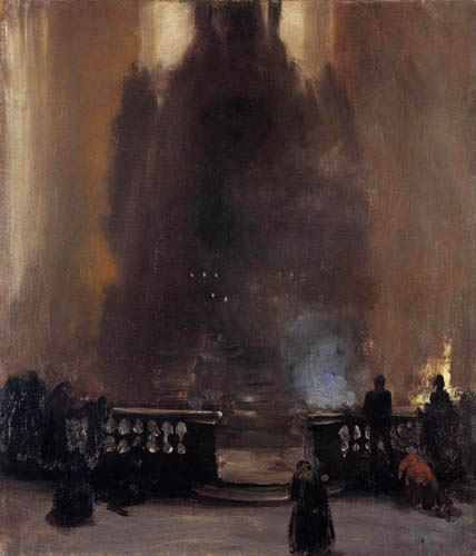Adolph von (Adolf) Menzel - The inside of a Church