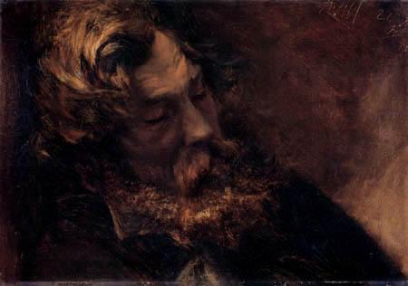 Adolph von (Adolf) Menzel - Ein schlafender Mann
