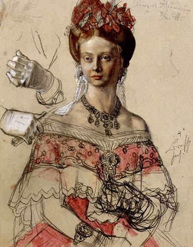 Adolph von (Adolf) Menzel - The princess Alexandrine
