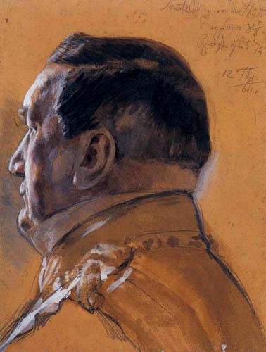 Adolph von (Adolf) Menzel - Der Staatsminister von der Heydt