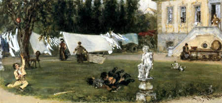 Adolph von (Adolf) Menzel - Drying place