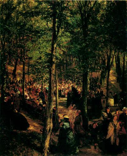 Adolph von (Adolf) Menzel - Predigt im Freien, Kösen