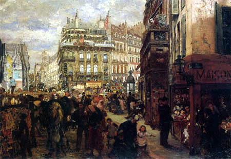 Adolph von (Adolf) Menzel - Wochentag in Paris