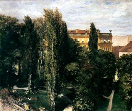 Adolph von (Adolf) Menzel - Garten des Palastes von Prinz Albert