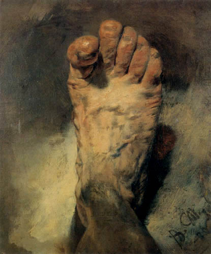 Adolph Menzel The foot of the artist Adolph von Adolf Menzel as an