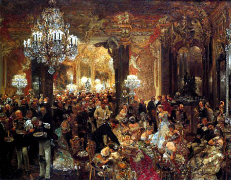 Adolph von (Adolf) Menzel - The Banquet