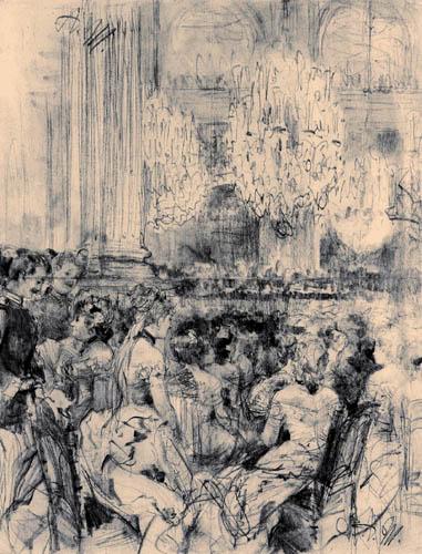 Adolph von (Adolf) Menzel - Konzert im weißen Saal