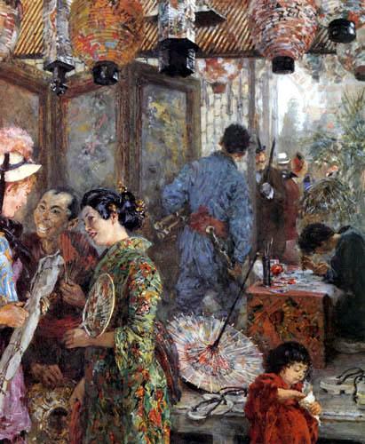 Adolph von (Adolf) Menzel - Japanische Maler