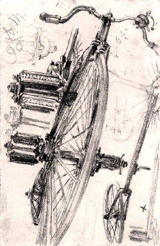 Adolph von (Adolf) Menzel - Bicycle study