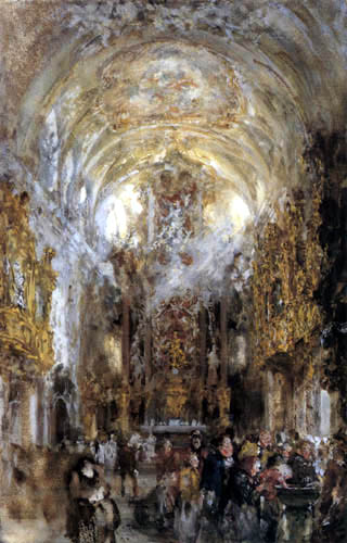 Adolph von (Adolf) Menzel - Kircheninneres