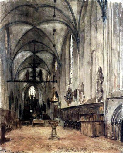 Adolph von (Adolf) Menzel - Die alte Klosterkirche in Berlin