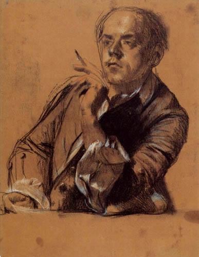 Adolph von (Adolf) Menzel - Le Frère  Reinhard
