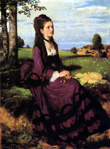 Szinyei Pál Merse - Woman in violet dress
