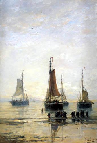 Hendrik Willem Mesdag - Fischerboote vor Anker, Scheveningen