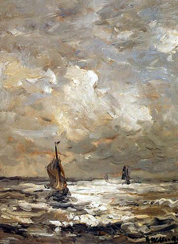 Hendrik Willem Mesdag - Sailing Vessels at Sea