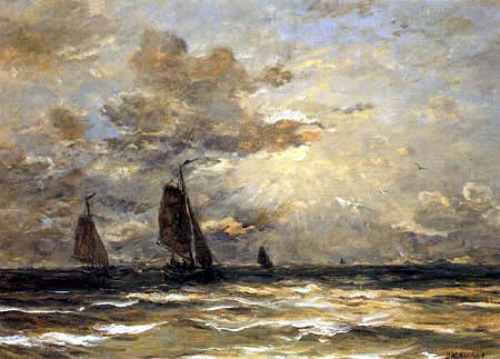 Hendrik Willem Mesdag - Bomschuits at Sea