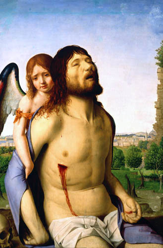 Antonello da Messina - Christ and an angel