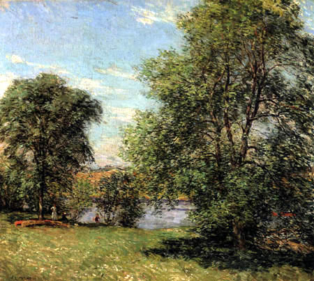 Willard Metcalf - The Boat Landing
