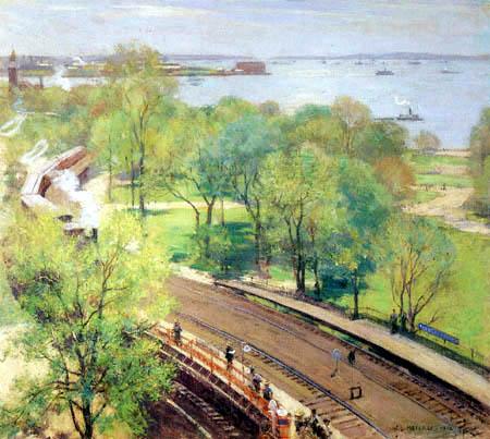 Willard Metcalf - Battery Park - Frühling
