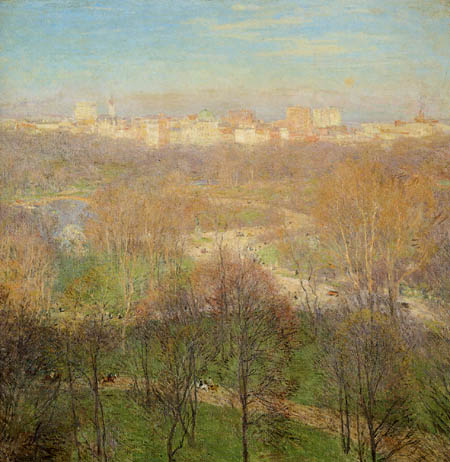 Willard Metcalf - Early Spring Afternoon, Central Park