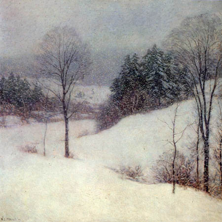 Willard Metcalf - White Veil