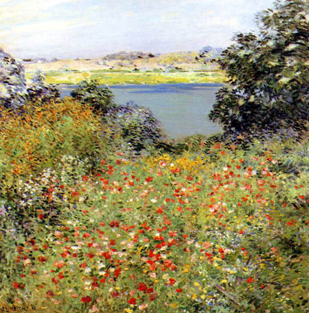 Willard Metcalf - Jardin de pavot