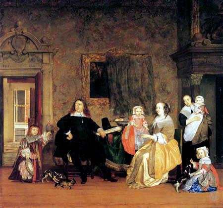 Gabriel Metsu - The Family of the Mayor
