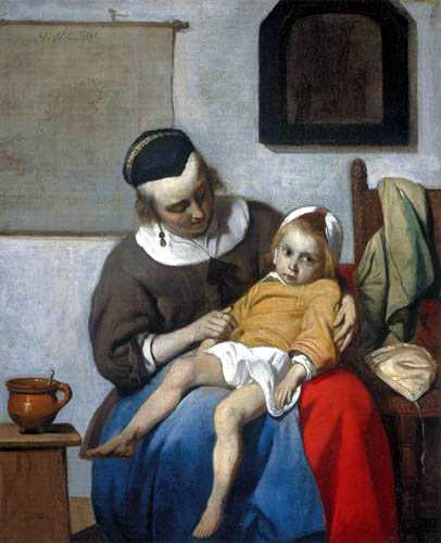 Gabriel Metsu - The ill child