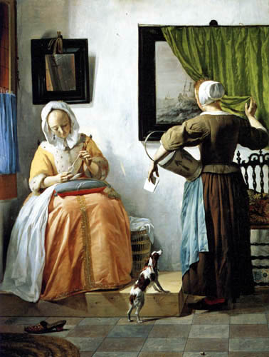 Gabriel Metsu - Lady reading a letter