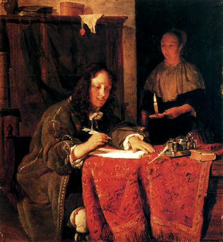 Gabriel Metsu - Man writing a letter
