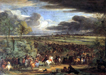 Adam Frans van der Meulen - The King´s Army Marching on Courtrai