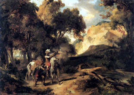 Achille Etna Michallon - Heinrich IV and captain Michau in the forest of Fontainebleau