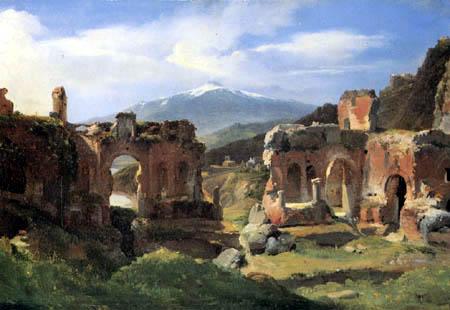 Achille Etna Michallon - Ruinen des Theaters von Taormina