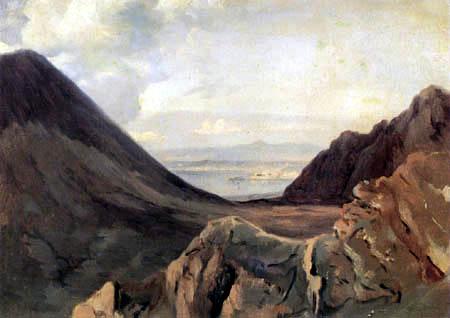 Achille Etna Michallon - View of Naples from the Vesuvius