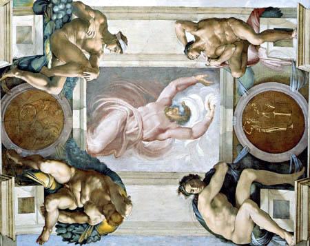 Michelangelo - Trennung von Licht und Dunkelheit