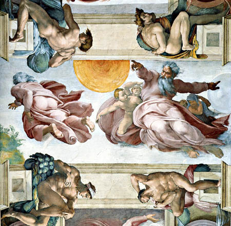 Michelangelo - The creation of sun, moon and stars