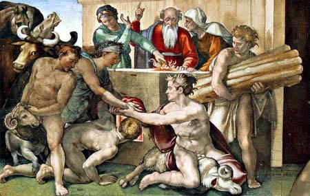 Michelangelo - The Sacrifice of Noah