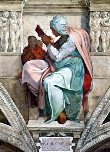 Michelangelo Buonarroti - Sixtinische Kapelle, Die Persische Sibylle