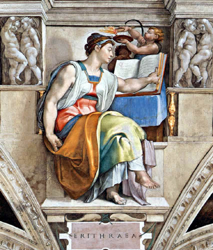Michelangelo Buonarroti - Sixtinische Kapelle, Die Erythräische Sibylle