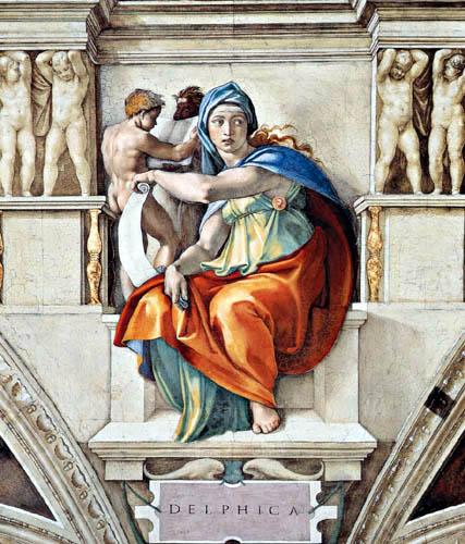 Michelangelo Buonarroti - Sixtinische Kapelle, Die Delphische Sibylle