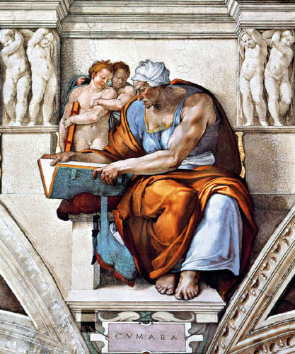 Michelangelo Buonarroti - Sixtinische Kapelle, Die Kumäische Sibylle