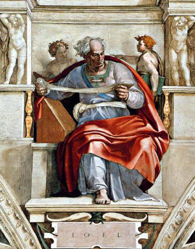 Michelangelo Buonarroti - Sixtinische Kapelle, Der Prophet Joel