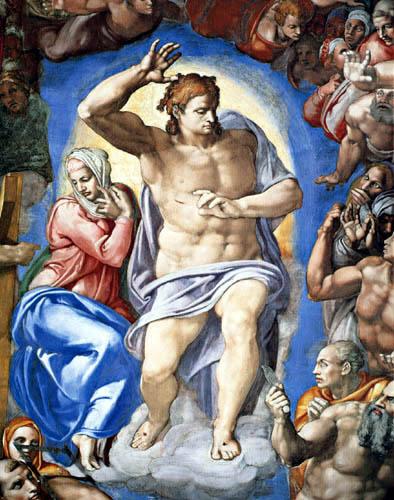Michelangelo Buonarroti - Sixtinische Kapelle, Christus als Weltenrichter