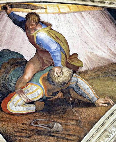 Michelangelo - Sistine Chapel, David and Goliath