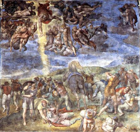 Michelangelo Buonarroti - Die Bekehrung des hl. Paulus