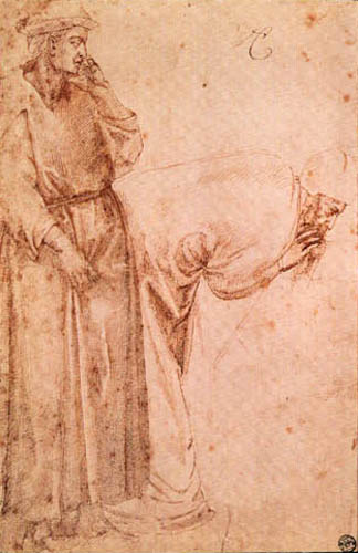 Michelangelo - Two figures after Giotto