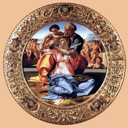 Michelangelo - The Holy Family with John the Baptist