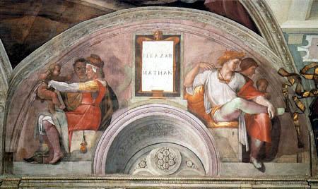 Michelangelo Buonarroti - Eleazar und Mathan