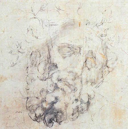 Michelangelo Buonarroti - Kopf des Laocoon